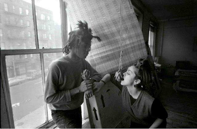 Basquiat and Madonna at his New York studio