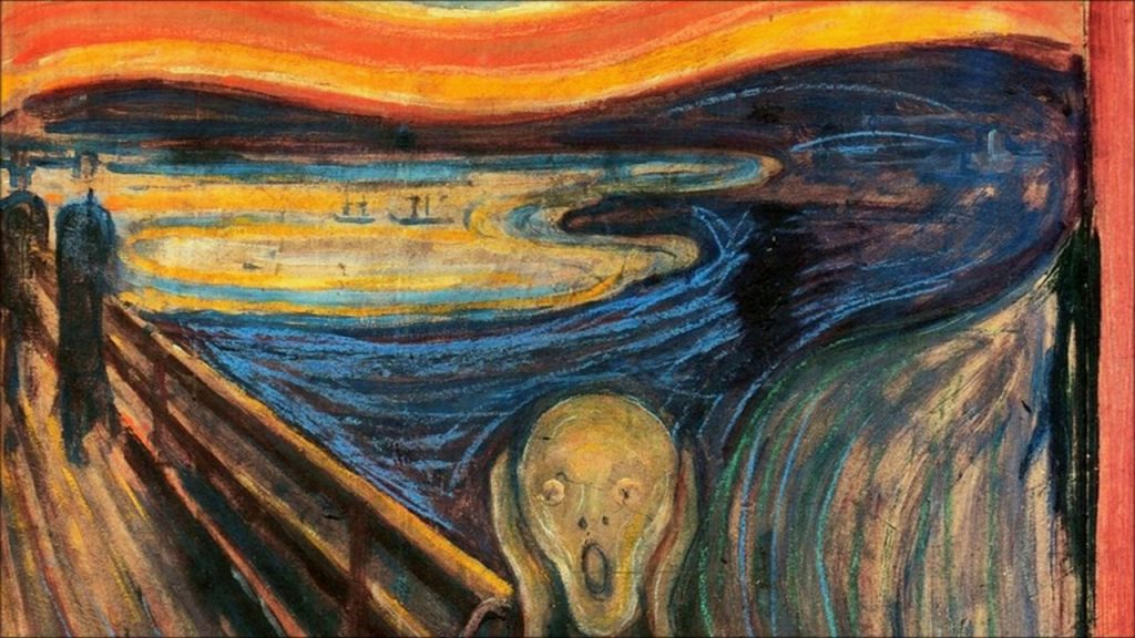Detail of the Sky in The Scream
