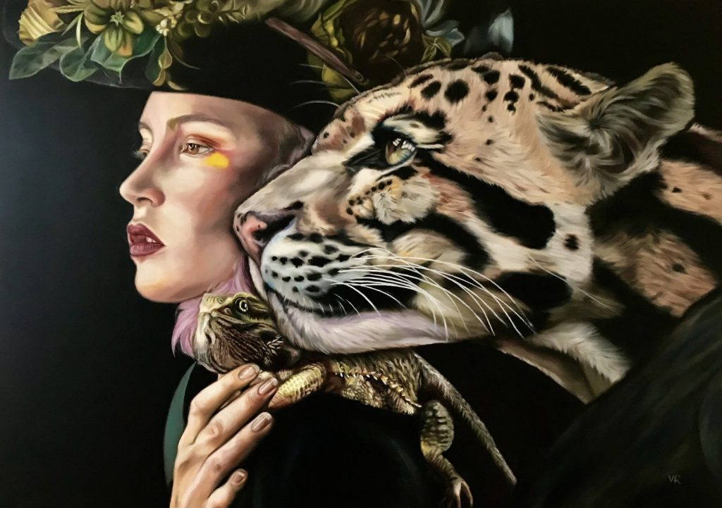 "Valentina Andrees-Reschetizka, ""Wunderland"", 2018, Öl auf Leinwand, 100x140cm"
