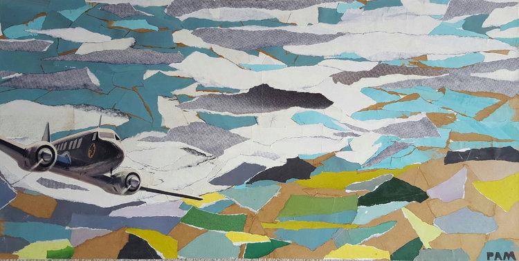 'L'avion' by Paméla De Rouvray. Aviation in art.