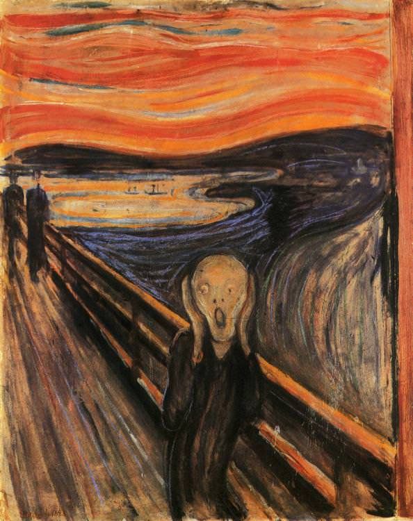 The most famous iteration of paintings completed in Munch's The Scream series.