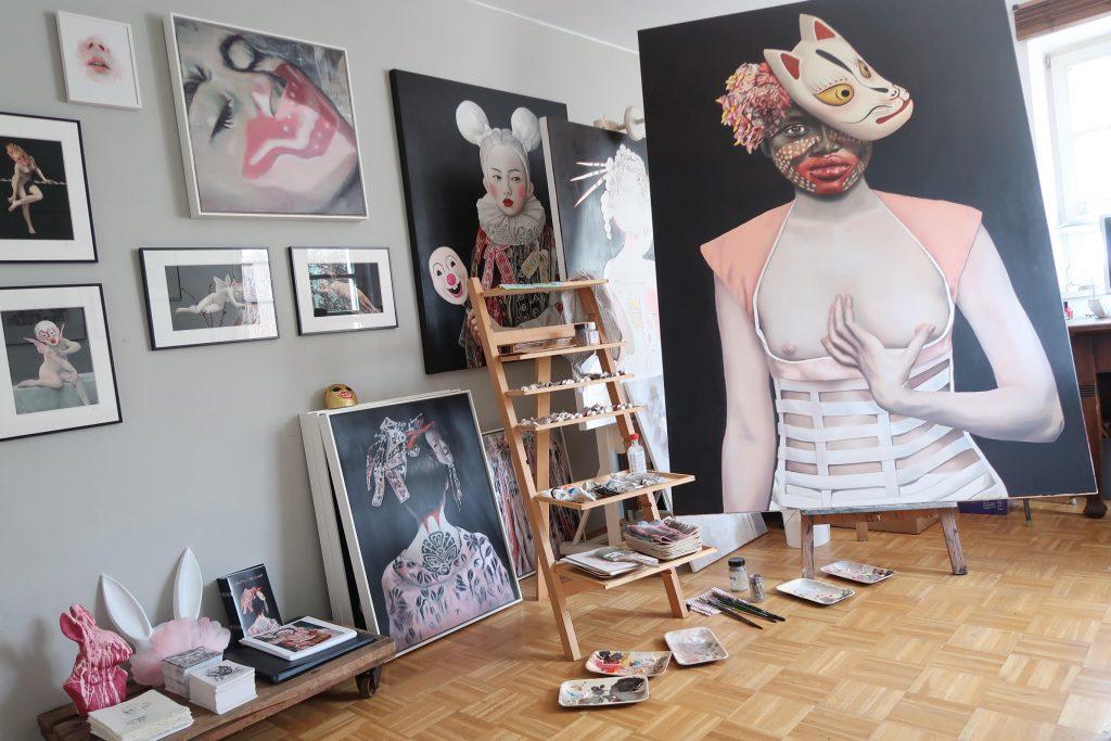 Einblick ins Atelier der Künstlerin.
