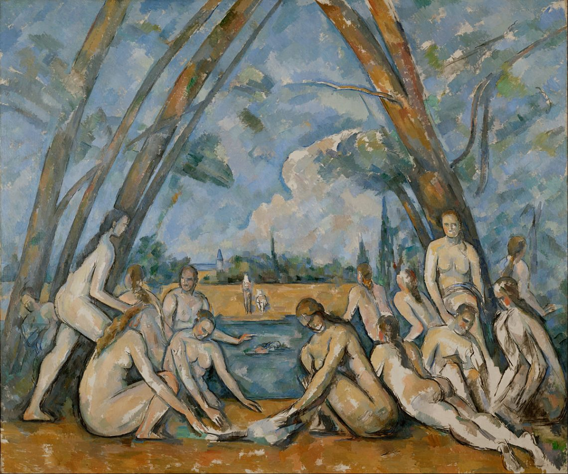 Les Baigneurs 1898 De Paul Cezanne