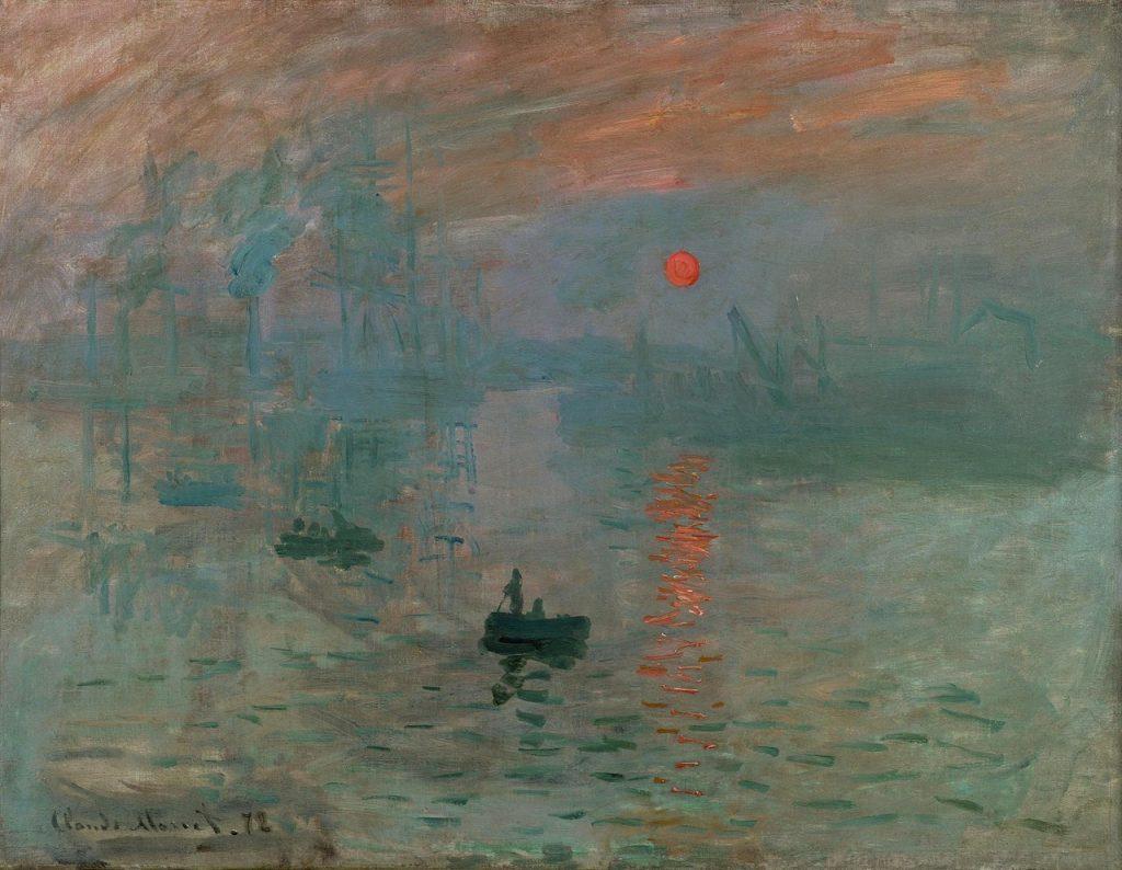 Claude Monet,  Impression, Sunrise, 1872.