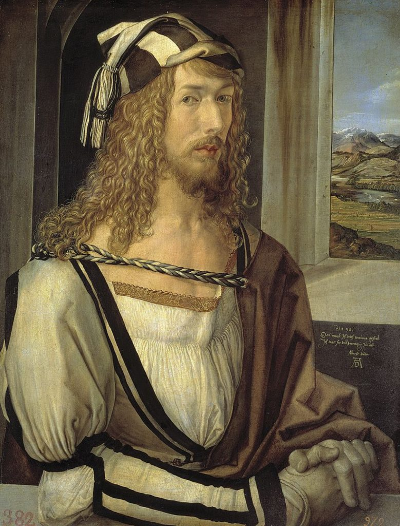 Albrecht Dürer, creator of Feast of the Rosary, Self-portrait at the age of 26
