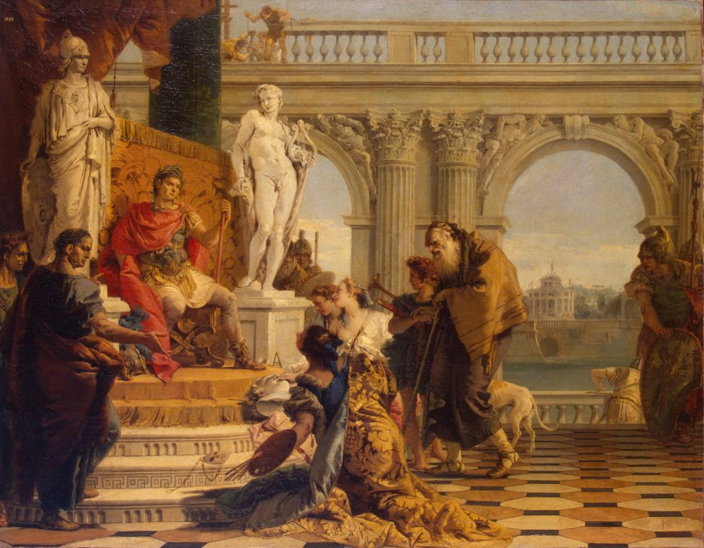 """""""Mäzenas stellt Augustus die Künste vor"""" von Giovanni Battista Tiepolo, The State Hermitage Museum"""