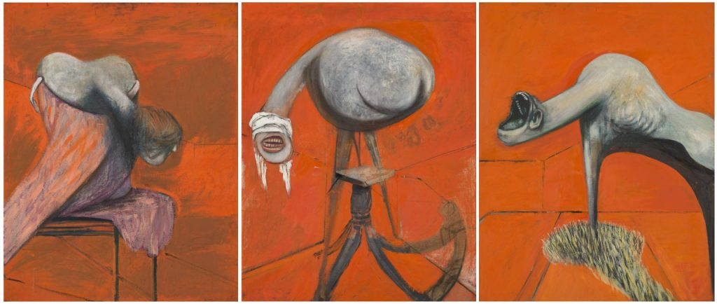 Francis Bacon, Three Studies for Figures at the Base of a Crucifixion, 1944