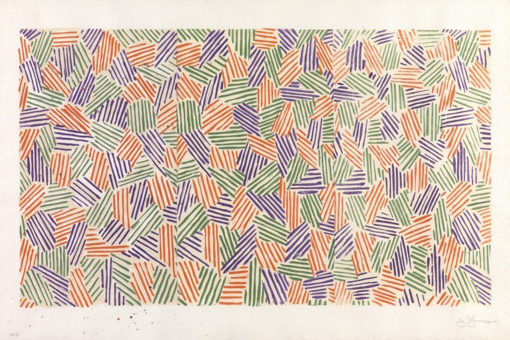 Jasper Johns, Scent, 1975-6