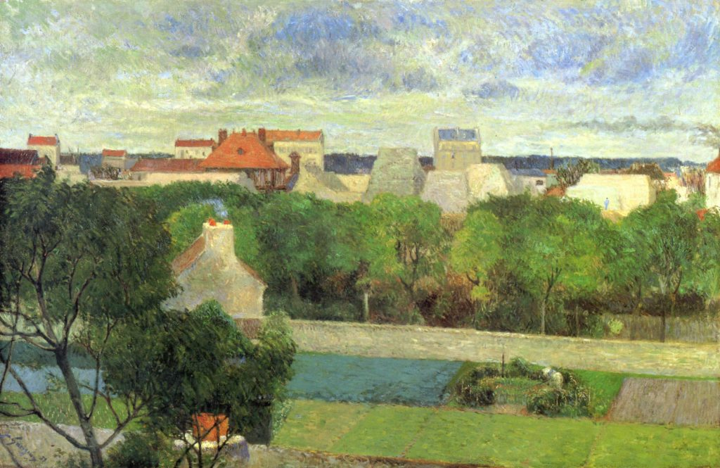A Paul Gauguin Impressionist landscape, The Market Gardens of Vaugirard, painted in 1879