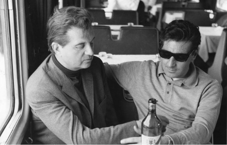 Francis Bacon on the Orient Express with his lover George Dyer in 1964  CREDIT: THE JOHN DEAKIN ARCHIVE/GETTY IMAGES