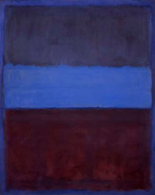 Mark Rothko,  No. 61 (Rust and Blue), 1953