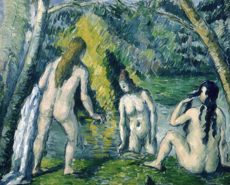 Paul Cézanne, Three Bathers, 1879-1882. A possible inspiration for Open Window.