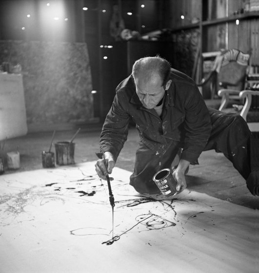 No. 5. Jackson Pollock works in his Long Island studio, 1949.  Martha Holmes—Time & Life Pictures/Getty Images