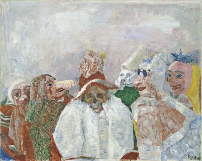 James Ensor, Masks Confronting Death, 1888