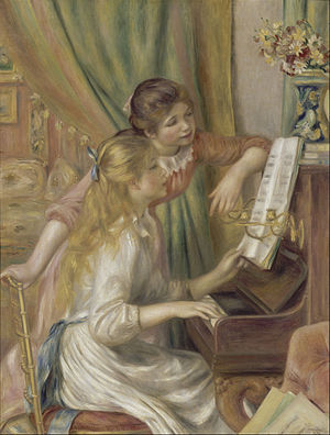 Pierre-Auguste Renoir, Girls at the Piano, 1892