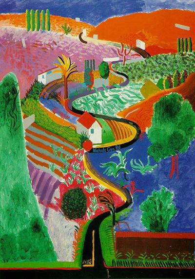 David Hockney, Nichols Canyon, 1980