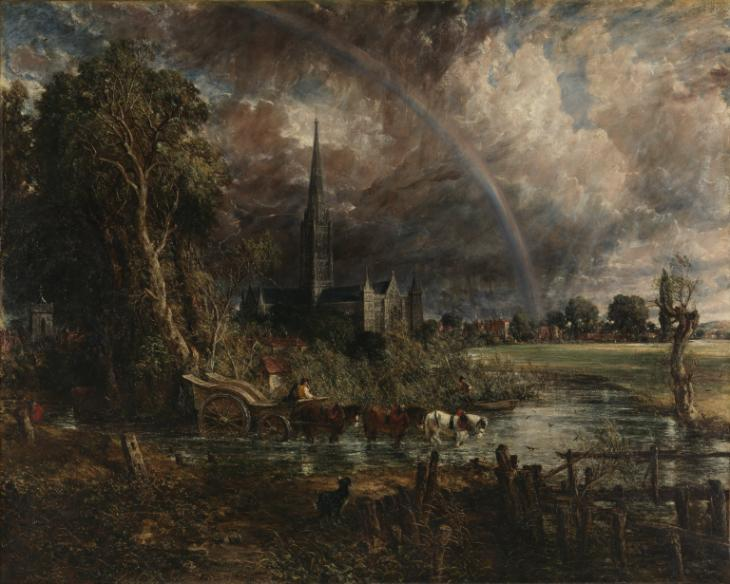 John Constable, Salisbury Cathedral from the Meadows, 1831. Image via The Tate