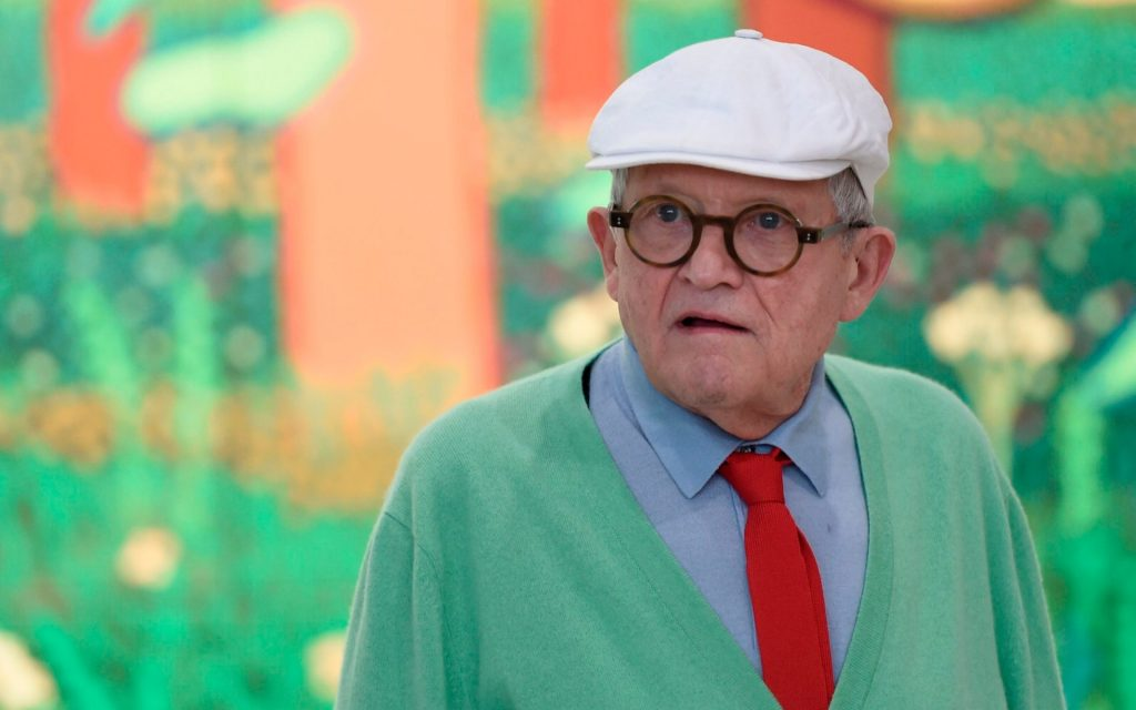 Hockney circa 2017. CREDIT: AFP