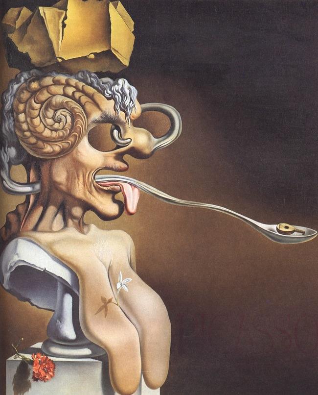 Porträt von Picasso, 1947 von Salvador Dali