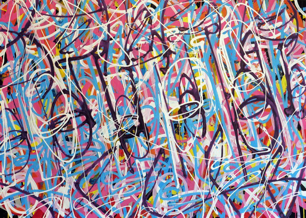 "Peer Kriesel, ""FRTZNABSTRCTN No. 129"", Acryl auf Leinwand, 100x140 cm, 2019"