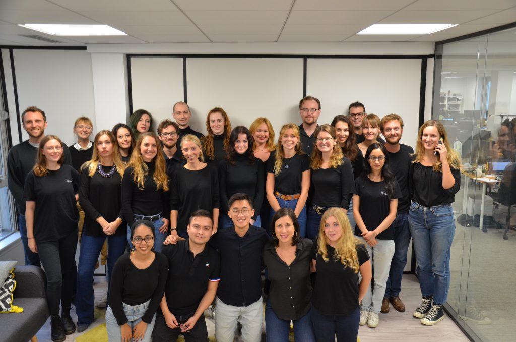 L'équipe Singulart dans son bureau de Paris