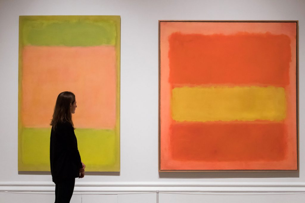 Two paintings by Mark Rothko © 2016 Rex Features