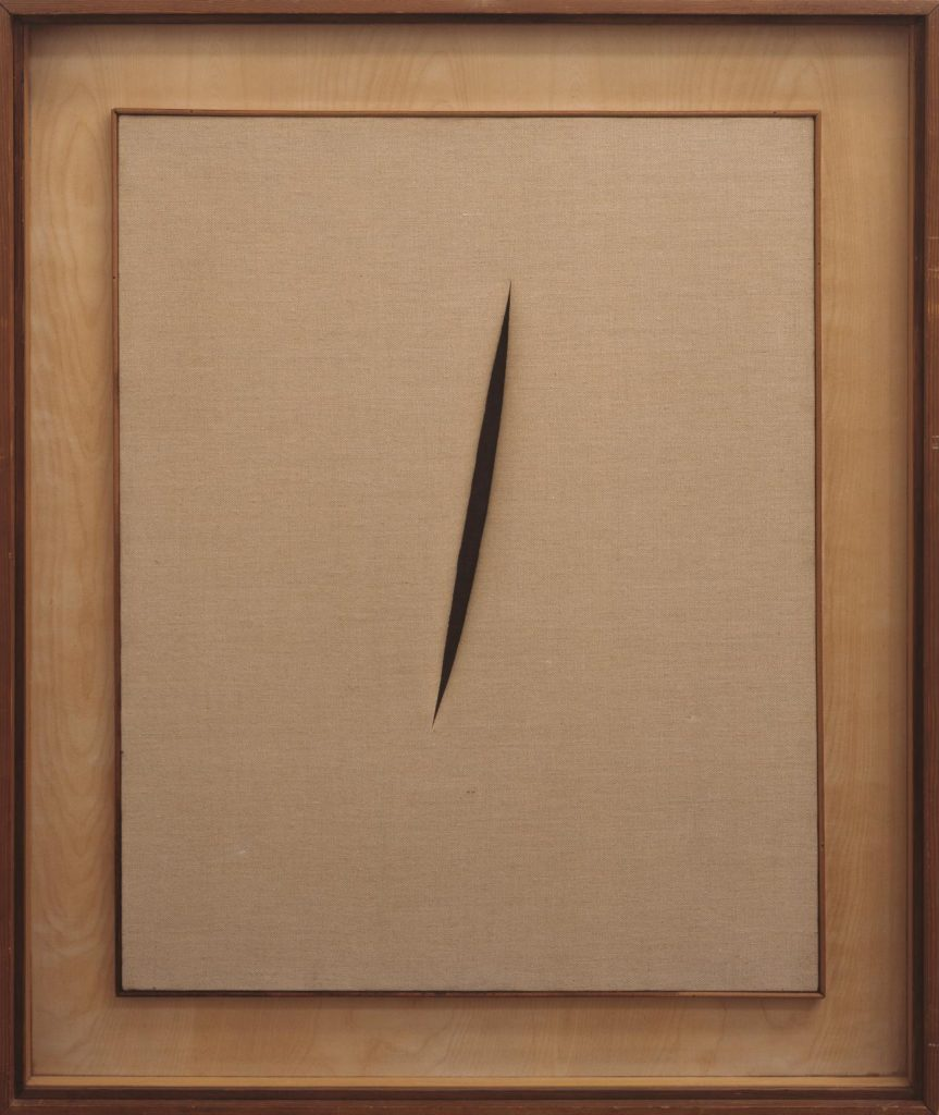Spatial Concept: Waiting, 1960 by Lucio Fontana  © Fondazione Lucio Fontana Milano