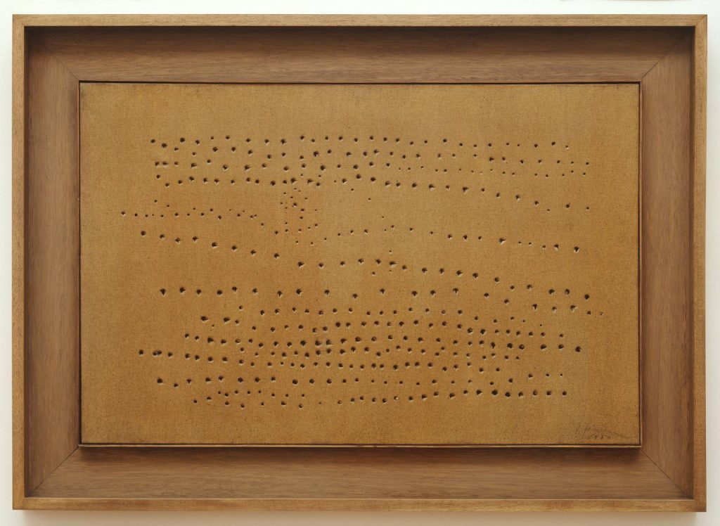 Spatial Concept, 1949-50 by Lucio Fontana © Fondazione Lucio Fontana Milano