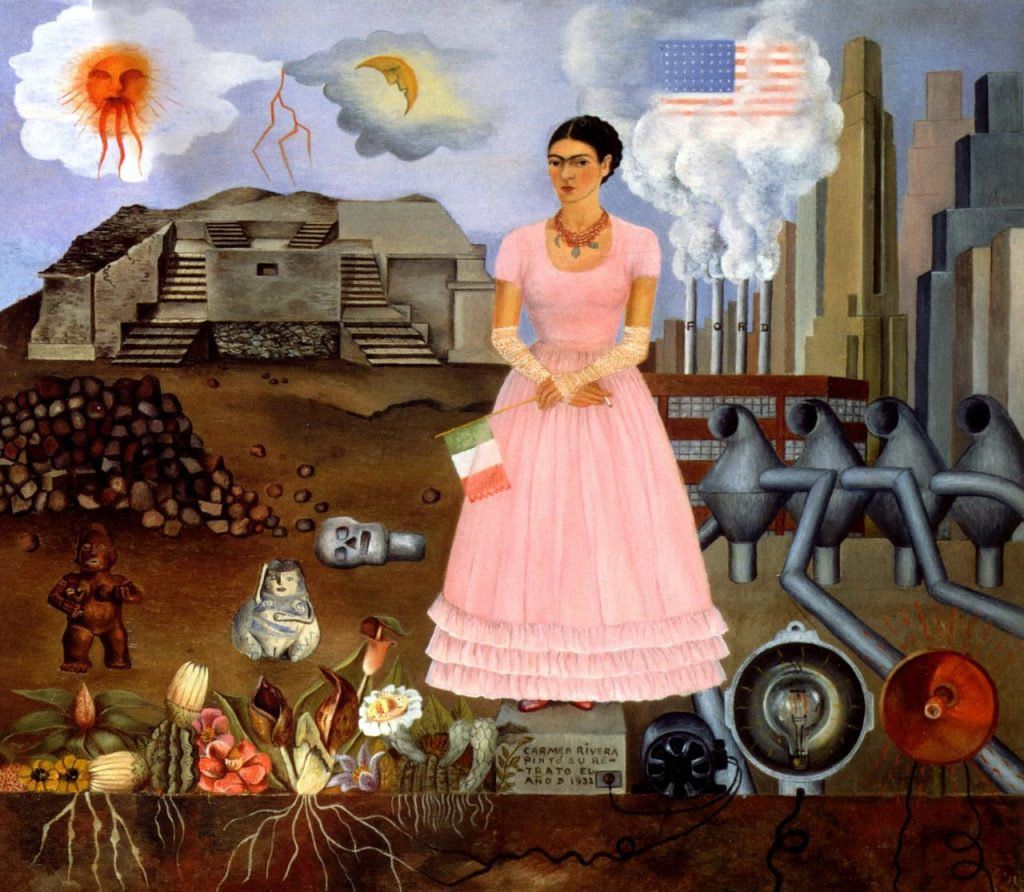 Frida Kahlo, Self-Portrait on the Border (1932)