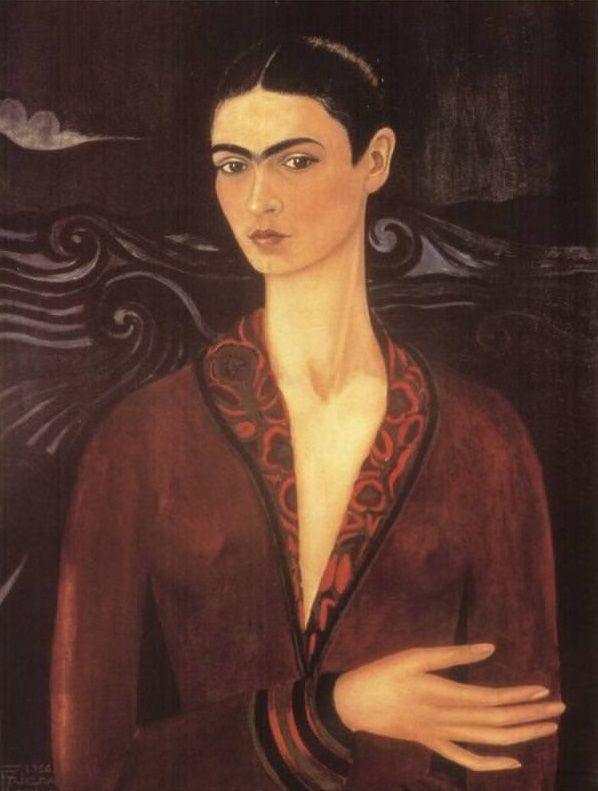 Frida Kahlo,  Self Portrait in a Velvet Dress (1926)