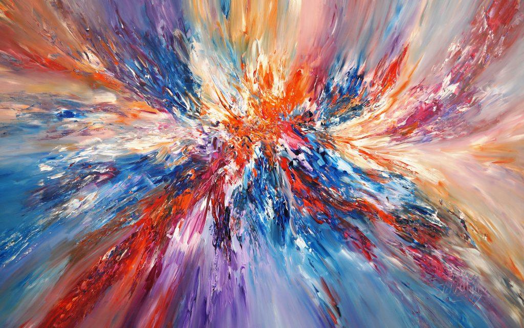 Peter Nottrott, Supernova XXXL 1, 2019. 150x200cm, acrylic on canvas.