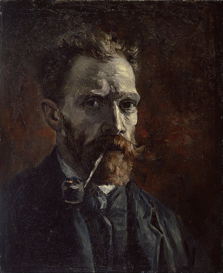 Vincent Van Gogh, Self-Portrait with Pipe (1886)