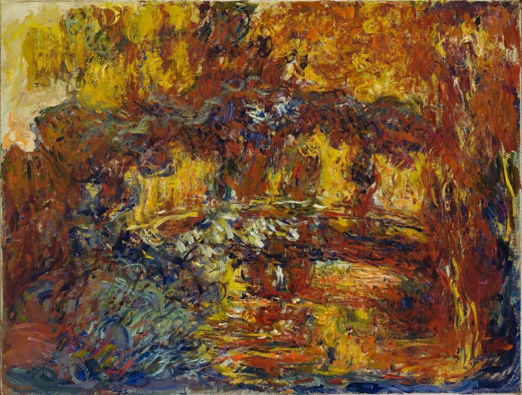 Claude Monet, The Japanese Footbridge (1920-1922)