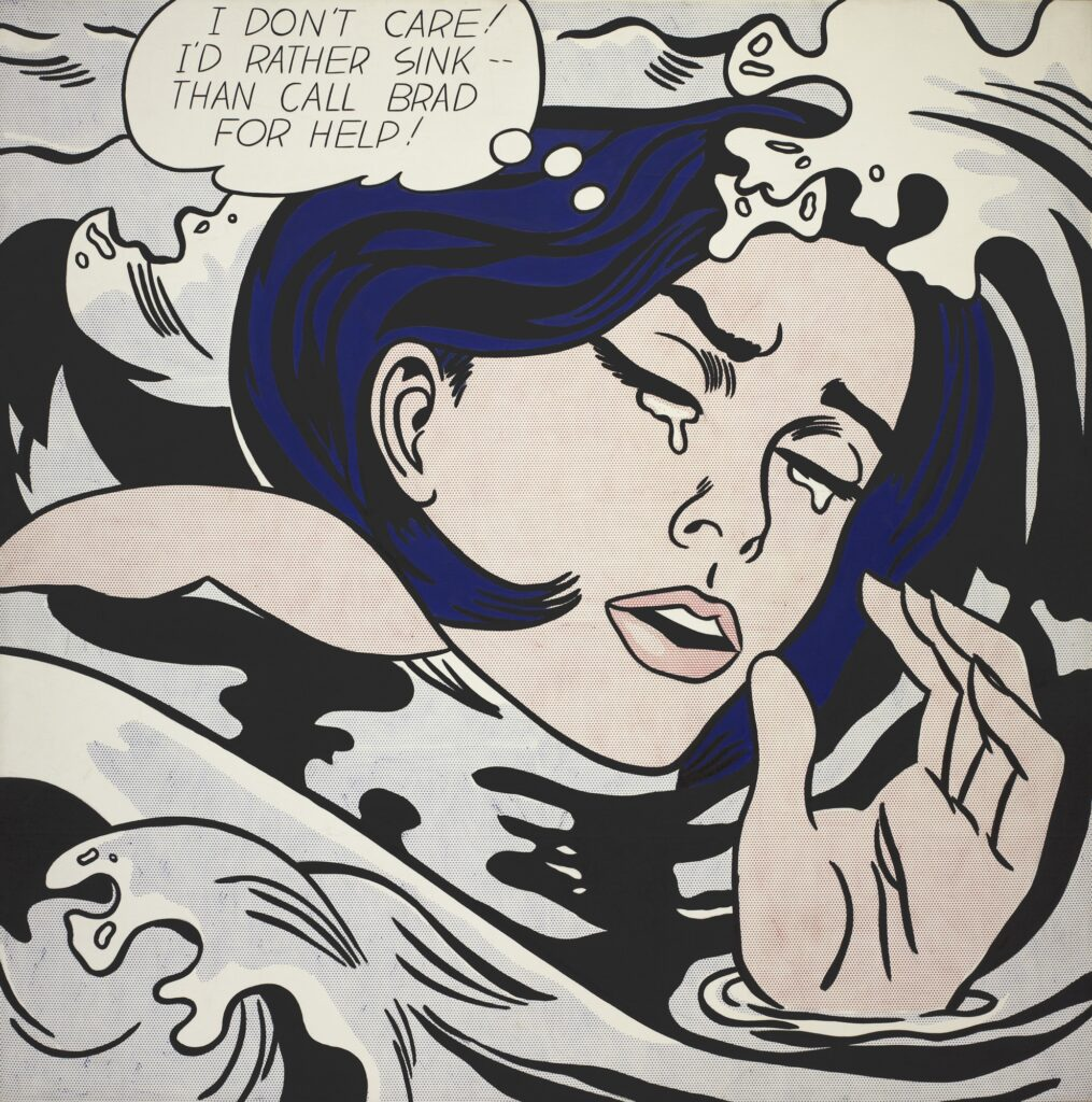 Roy Lichtenstein, Drowning Girl (1963)