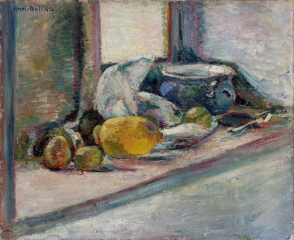 Henri Matisse, Blue Pot and Lemon (1897)