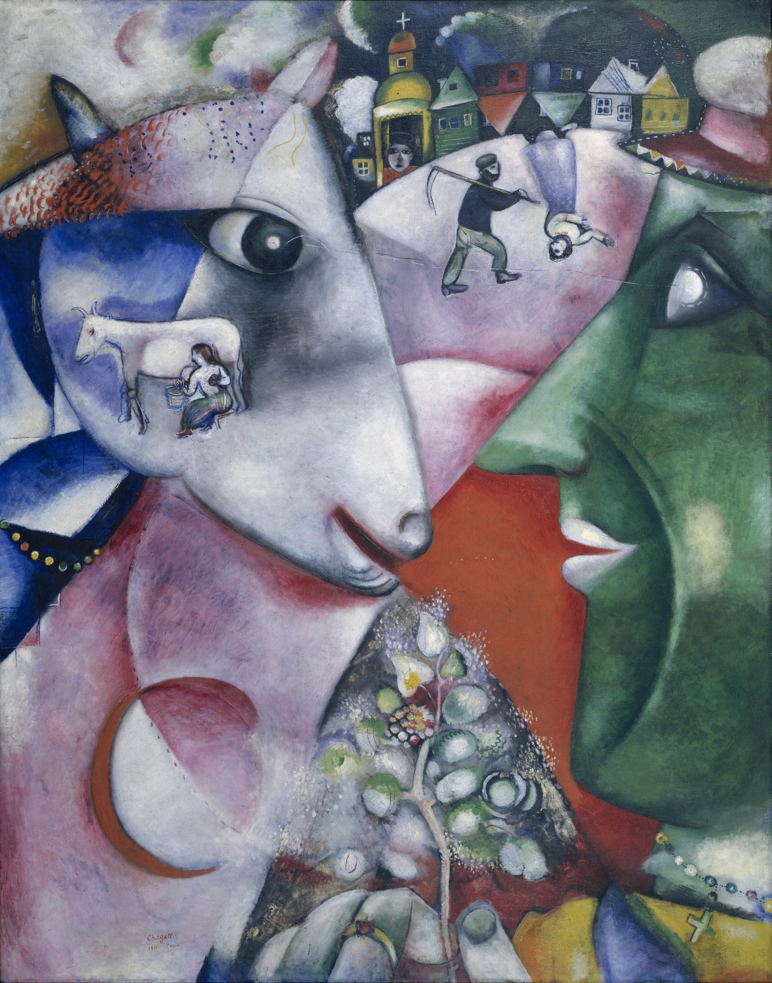I And The Village 1911 Marc Chagall