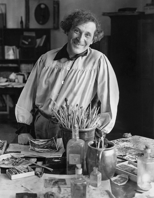 Marc Chagall in Paris, 1933 photographed by André Kertész