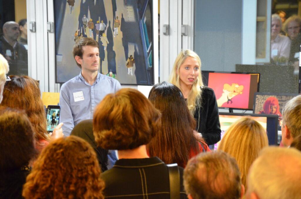 Marino Sailhen speaking at a Singulart event