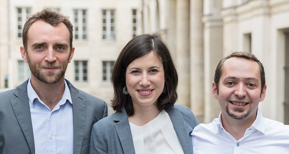 Founders of Singulart: Brice Lecompte, Véra Kempf, Denis Fayolle