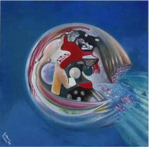 Cellula del microcosmo in viaggio nel macrocosmo, 2009, Franco Bulfarini
