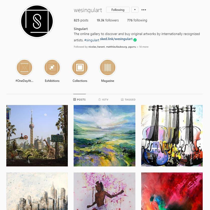 Singulart Instagram