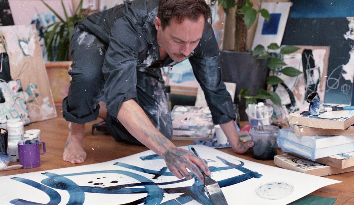 Marcus Aitken in the Studio