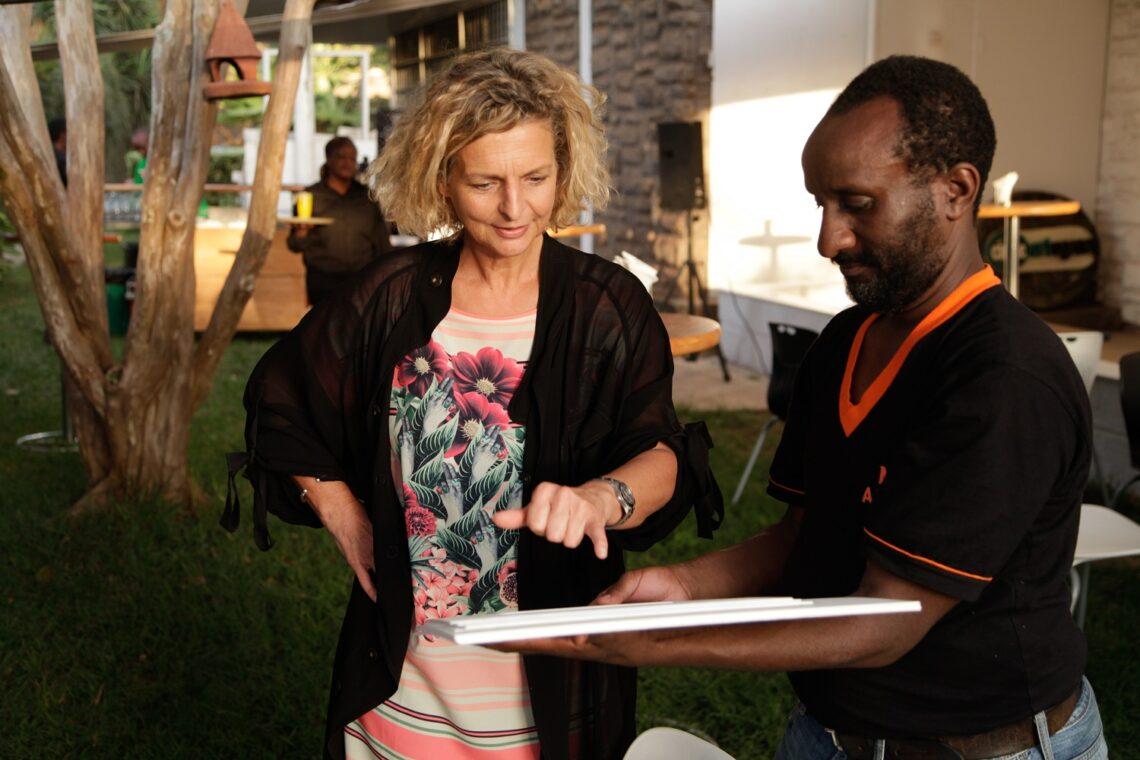 Danda with artist Eric Gitonga at Circle