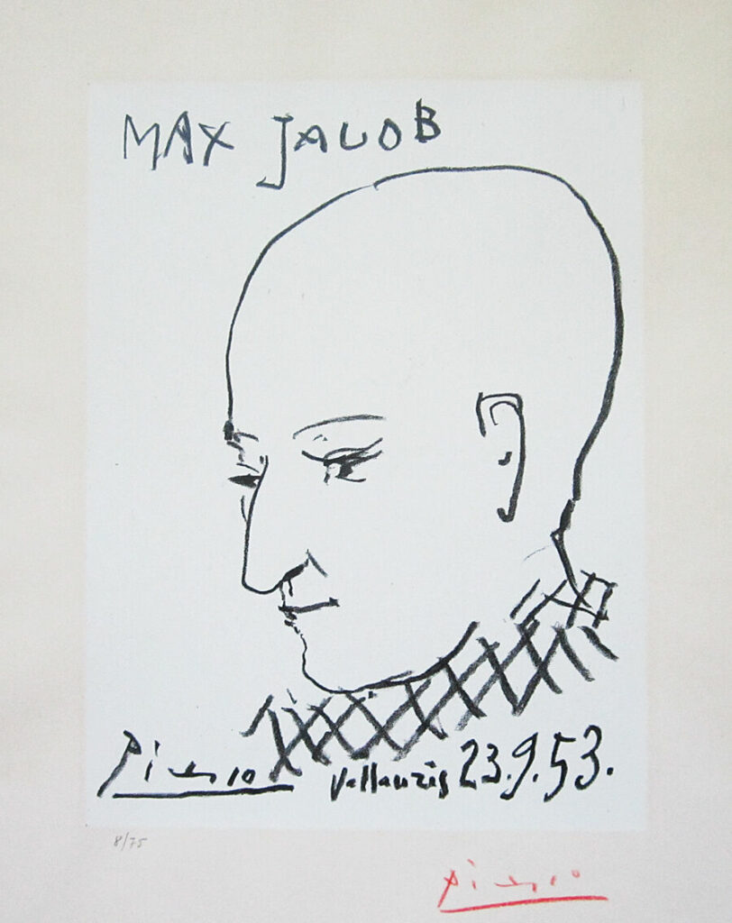 Pablo Picasso: lithographisches Portrait von Max Jacob, 23. September 1956 , Vallauris, Frontispiz