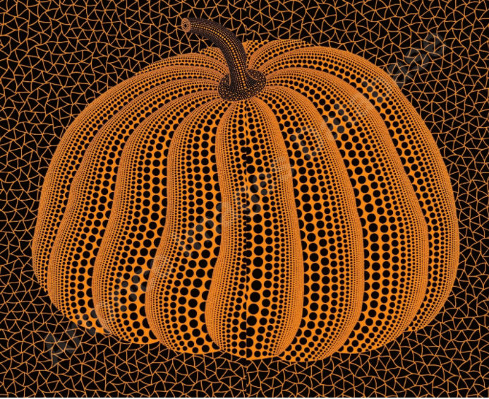 This image has an empty alt attribute; its file name is Kusama-pumpkin-2010.png